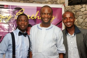 L-R: Genesis, Yinka Oyebola and Wole Collins at the event