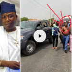 Video: Igboho Removes His Clothes As Security Agents Attempt To Arrest Him